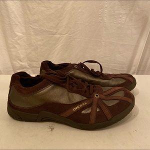 Diesel brown athletic shoes